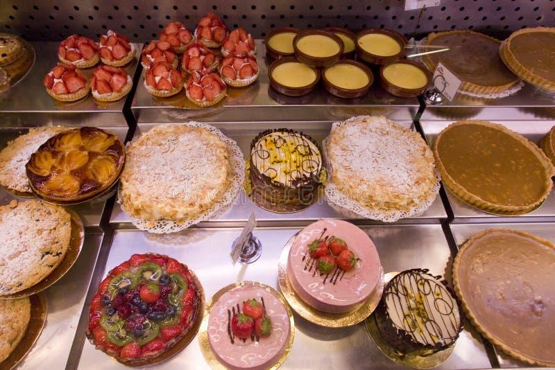 skrzynka pokazu rynku ciasta zdjęcia stock