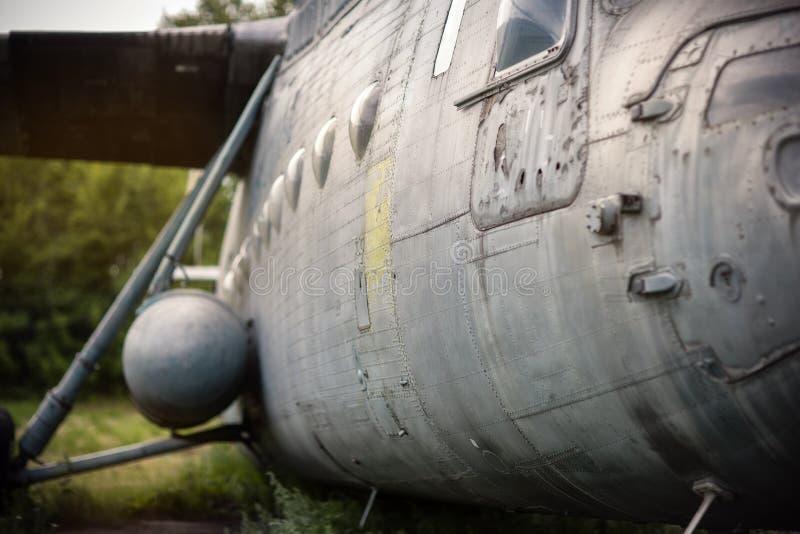 Skrzynka stary helikopter zdjęcia stock