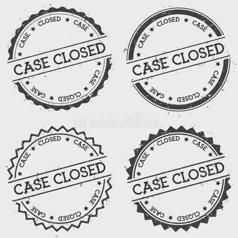 Skrzynka zamykający insygnia znaczek odizolowywający na bielu ilustracja wektor