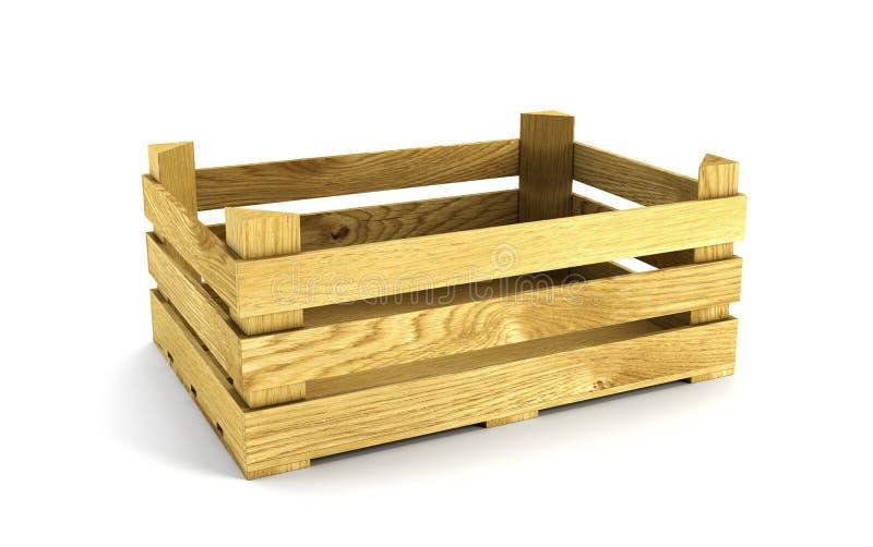 skrzynki drewniany pusty royalty ilustracja