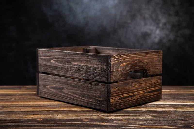 skrzynki drewniany pusty obraz royalty free