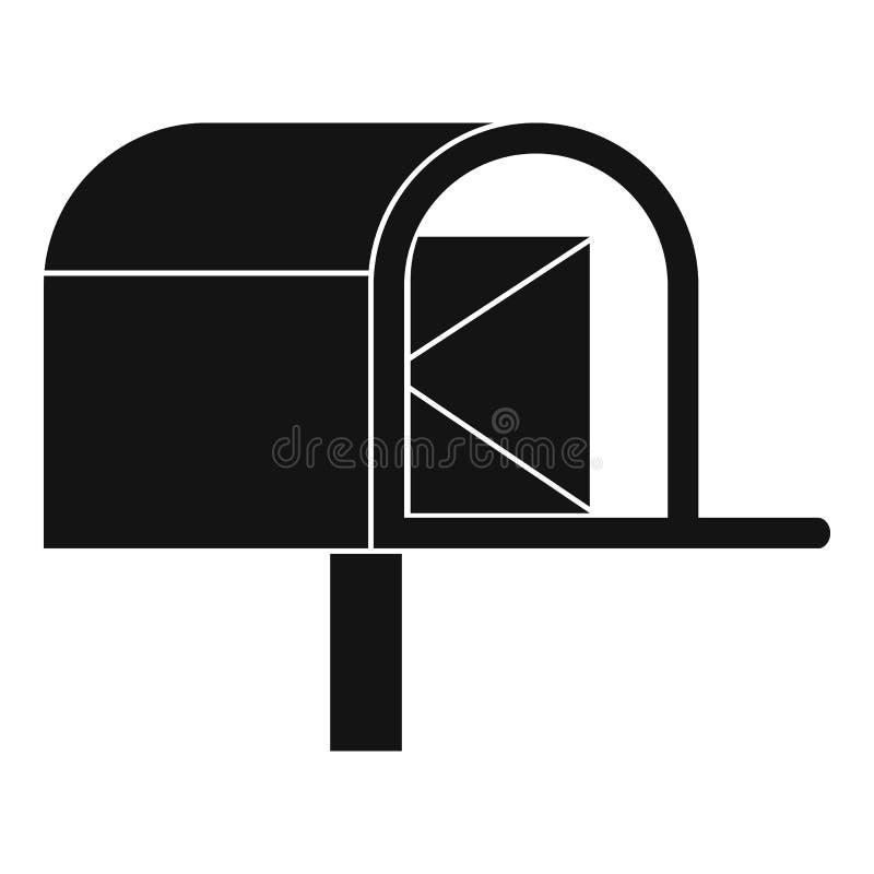 Skrzynki pocztowa ikona, prosty styl royalty ilustracja