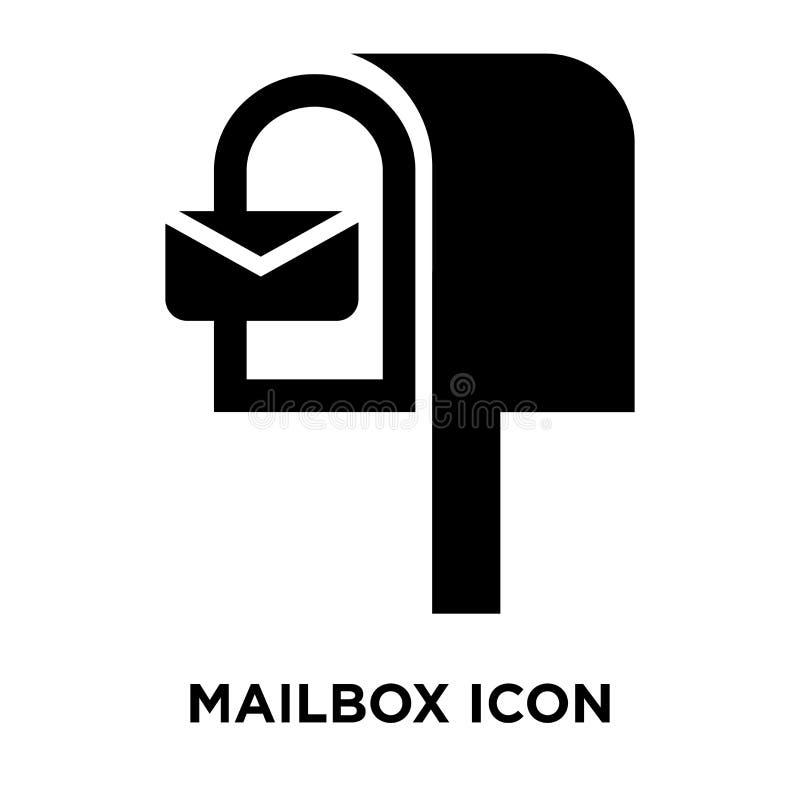 Skrzynki pocztowa ikony wektor odizolowywający na białym tle, loga pojęcie o ilustracji