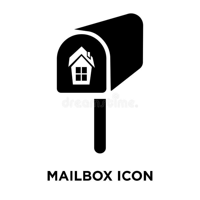 Skrzynki pocztowa ikony wektor odizolowywający na białym tle, loga pojęcie o royalty ilustracja