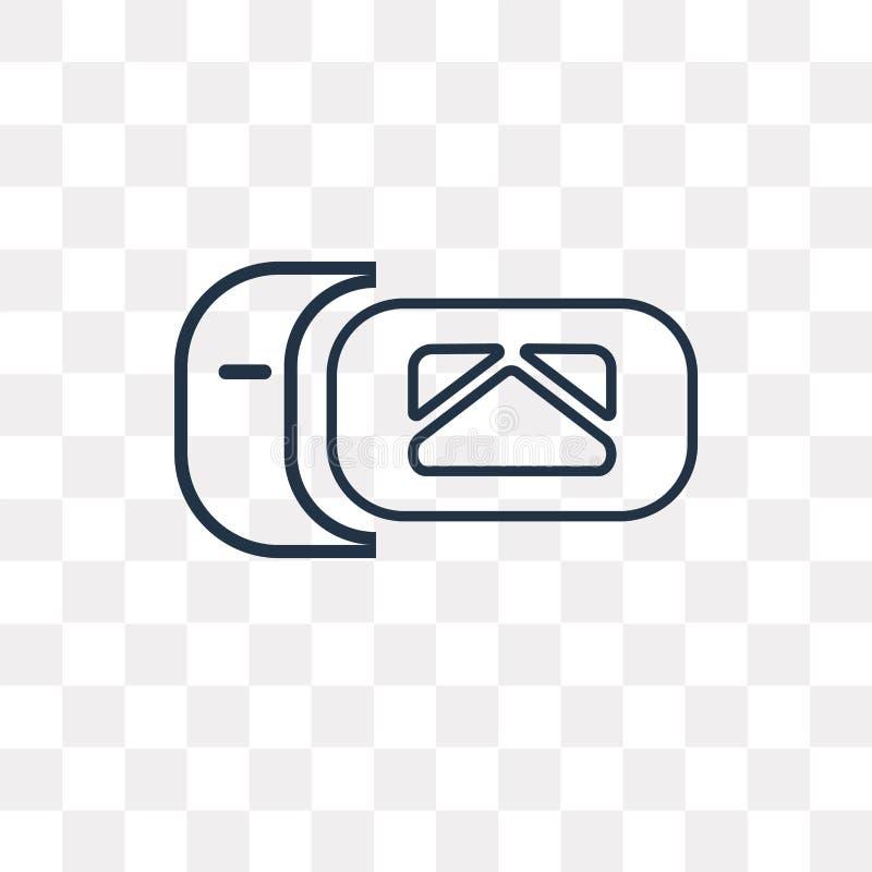 Skrzynki pocztowej wektorowa ikona odizolowywająca na przejrzystym tle, liniowy M royalty ilustracja