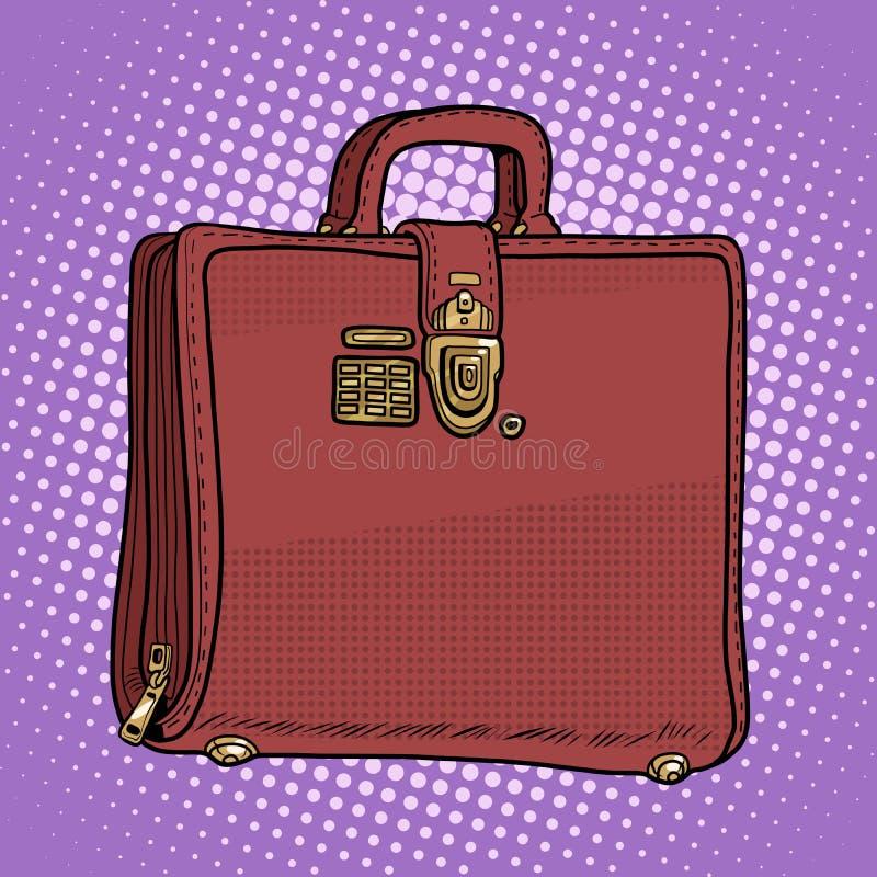 Skrzynki rzemiennej torby biznesmena biznesowy styl ilustracja wektor