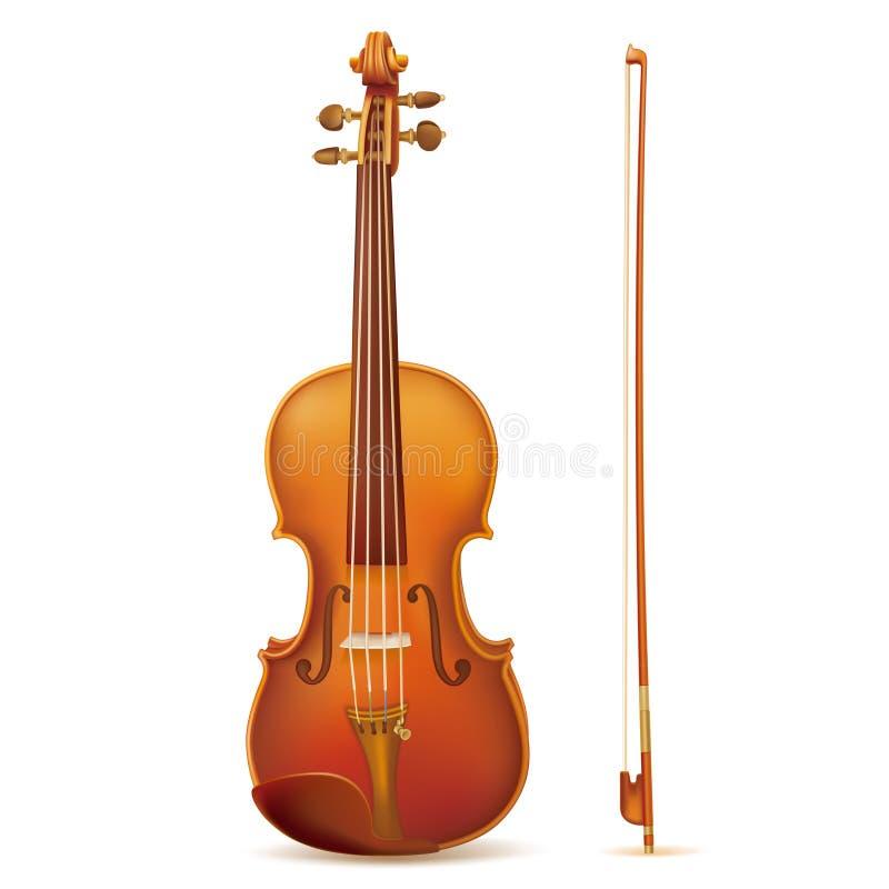 skrzypce royalty ilustracja