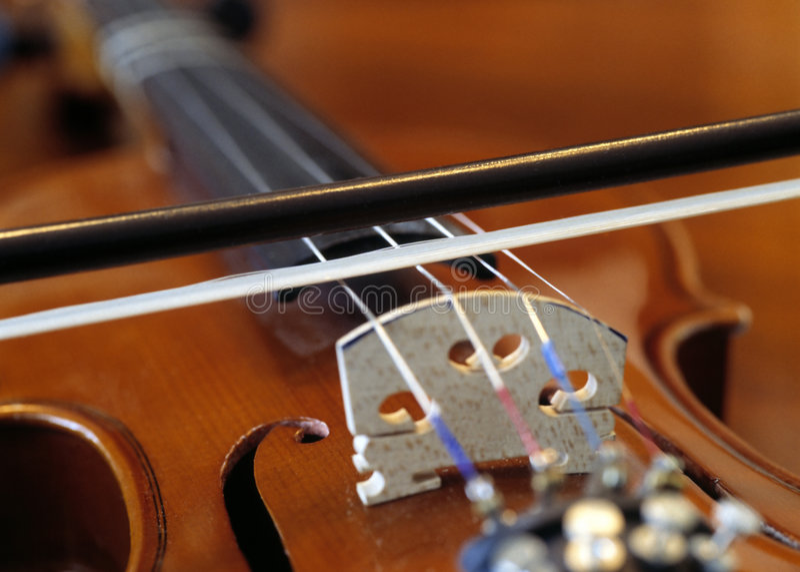 skrzypce bow fotografia stock