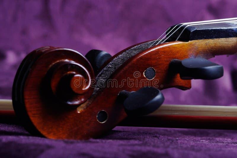 skrzypce zwoju fotografia royalty free