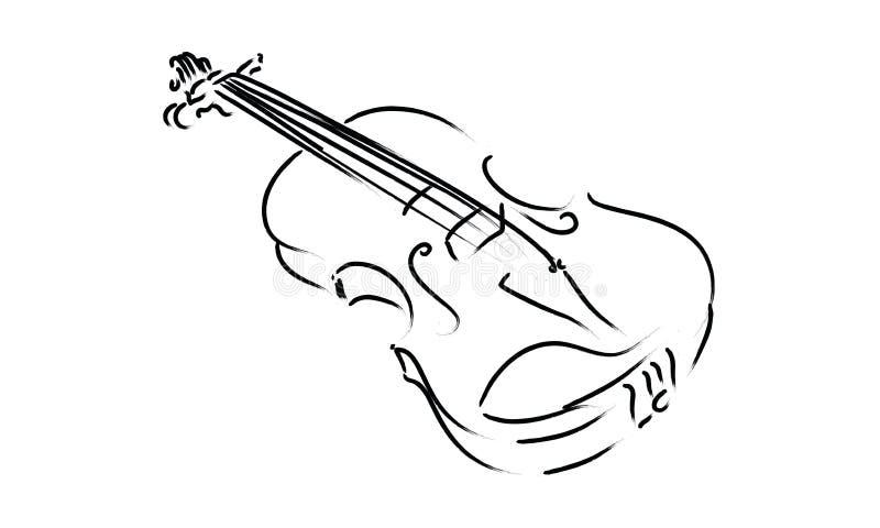 Skrzypcowego instrumentu muzyki znaka symbolu rysunkowy klasyk ilustracji