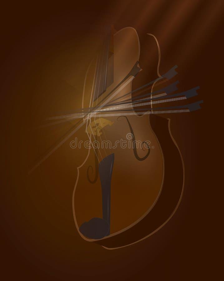 Skrzypcowego skrzypki seansu ilustracyjny łęk obraz royalty free