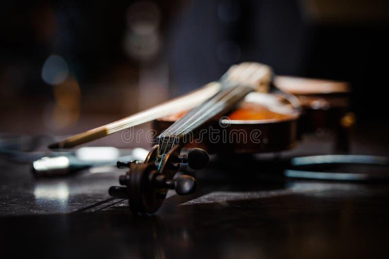 Skrzypcowy muzyczny instrument orkiestra obraz royalty free