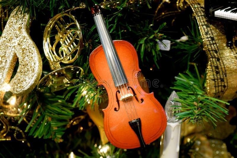 Skrzypcowy ornament zdjęcia royalty free