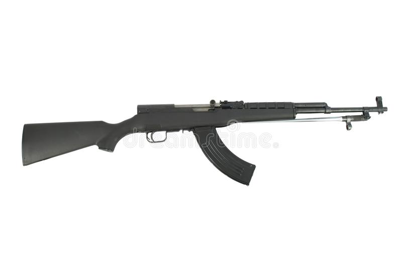 SKS Rifle Isolated On A White Background royalty free stock image