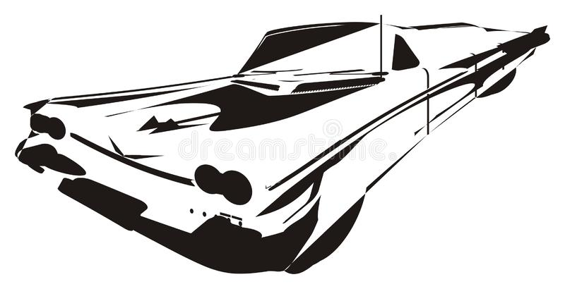 Skugga av bilen stock illustrationer
