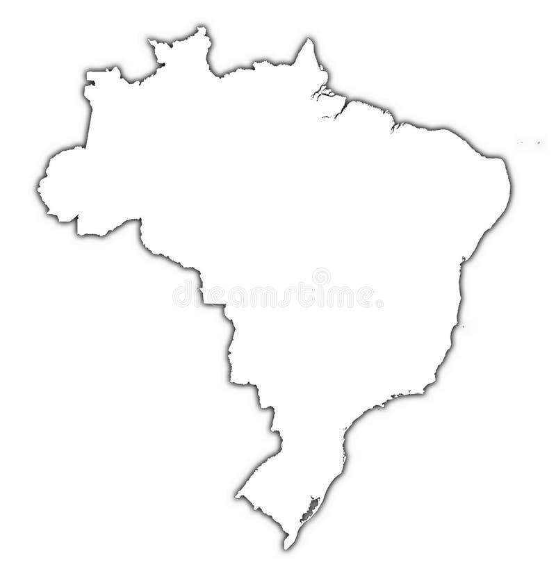 skugga för brazil översiktsöversikt stock illustrationer