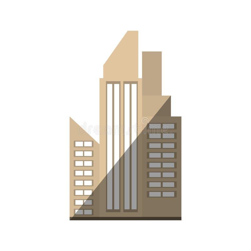 skugga för byggnadsstadsfastighet royaltyfri illustrationer