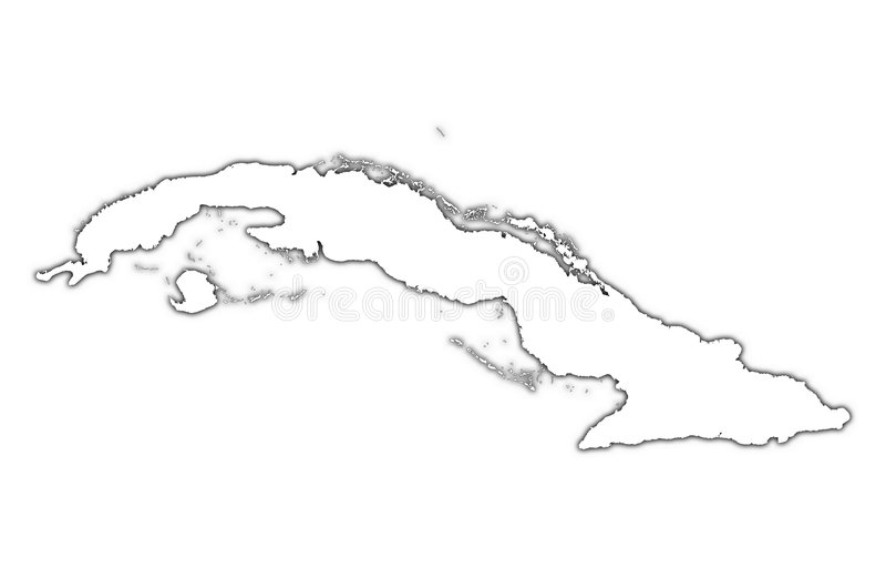 skugga för cuba översiktsöversikt stock illustrationer