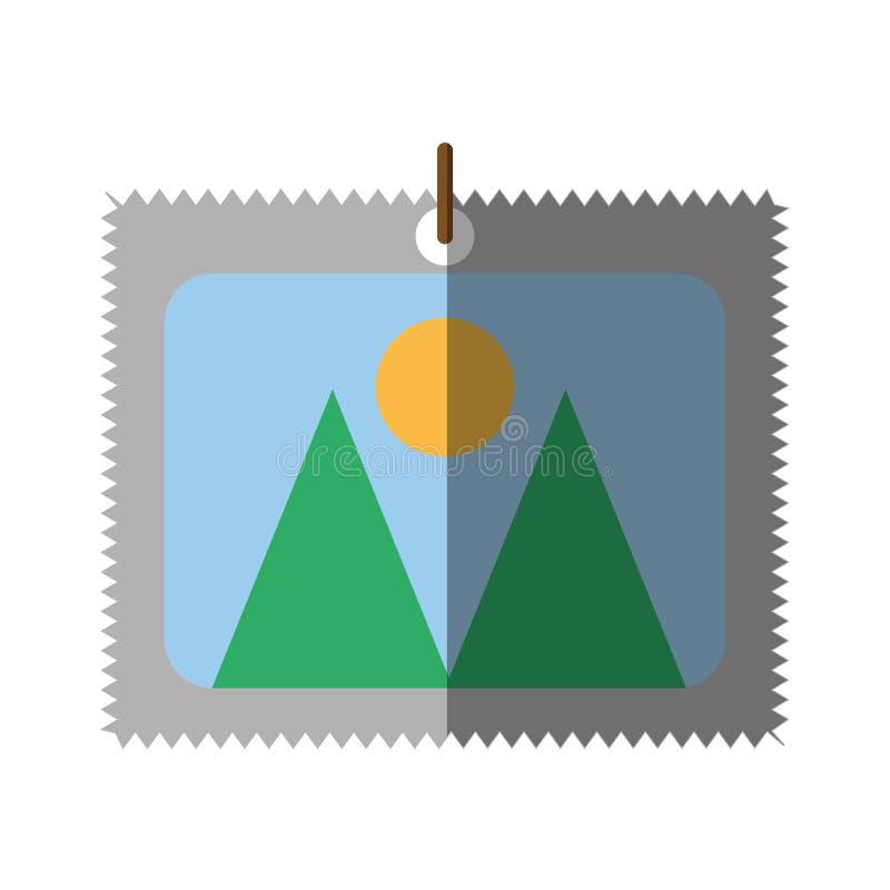 Skugga för lopp för foto för bildbild stock illustrationer