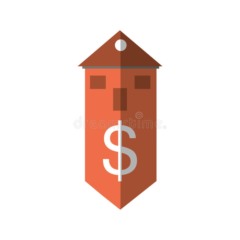 skugga för värde för kostnader för fastighetbyggnadspris royaltyfri illustrationer