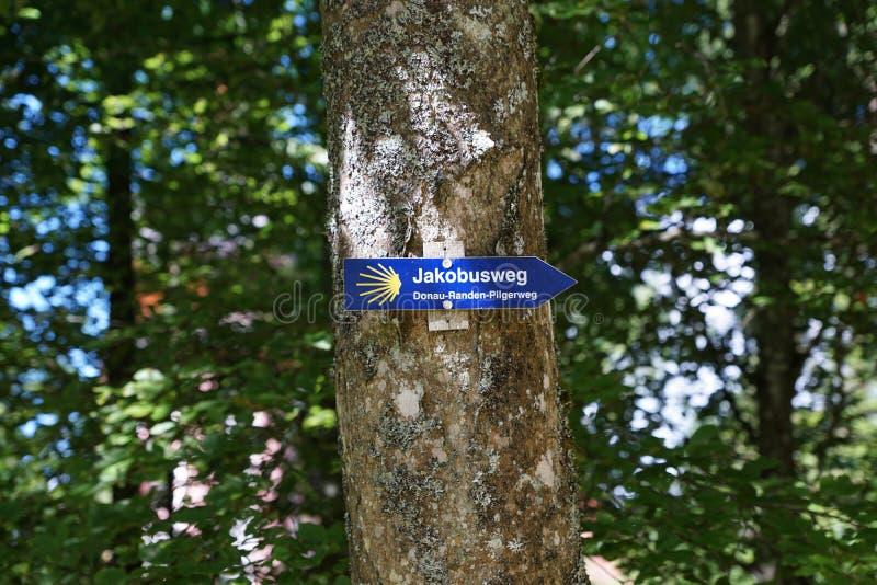 Skugga jacobus neuhausen in en derdonau i Tyskland arkivfoto