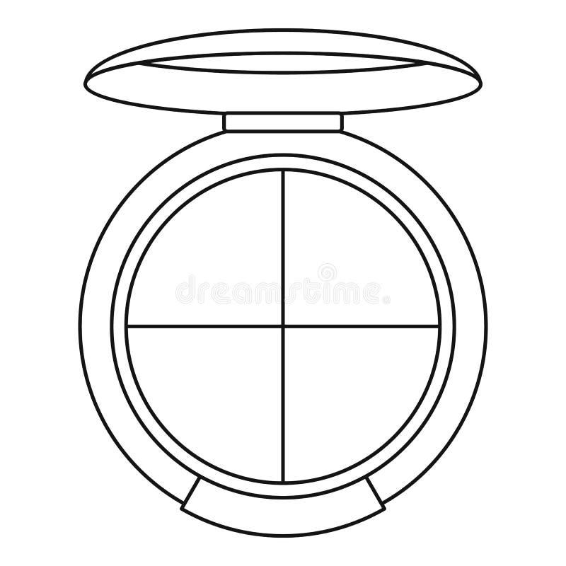 Skugga paletten med applikatorsymbolen, översiktsstil vektor illustrationer