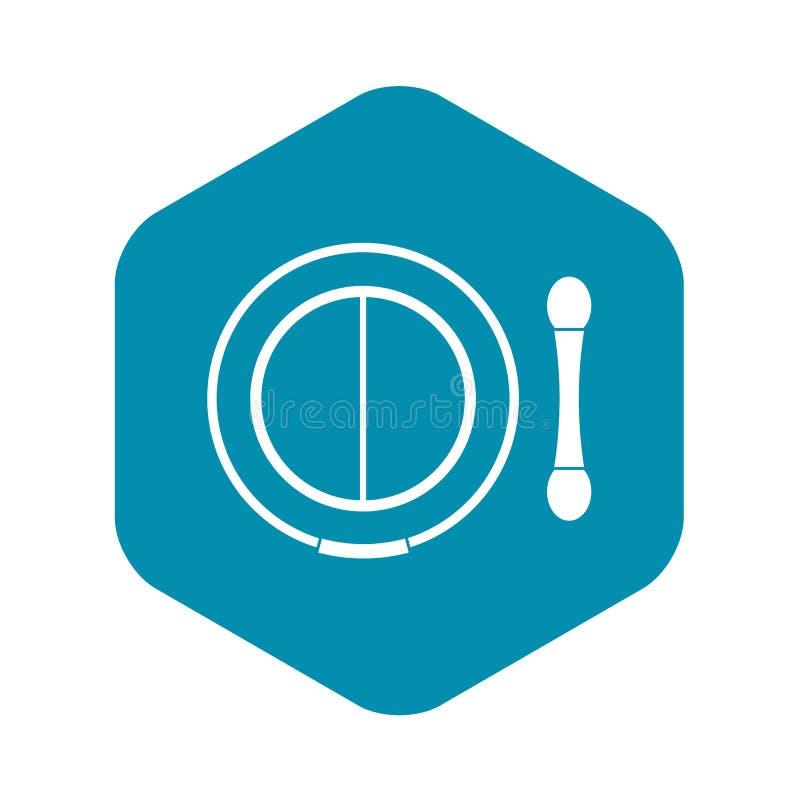 Skugga satsen med applikatorsymbolen, enkel stil royaltyfri illustrationer