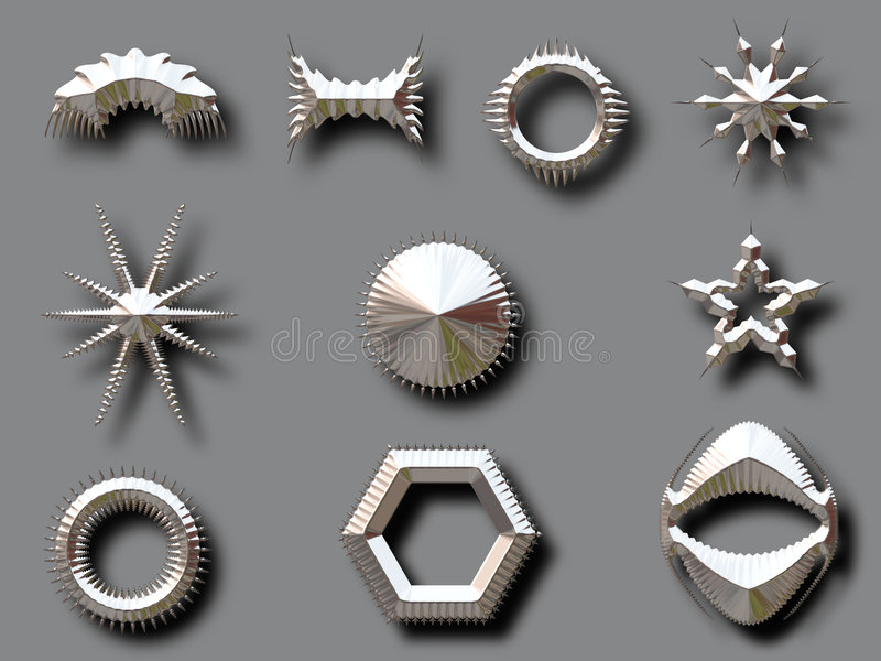 skuggaformsilver vektor illustrationer