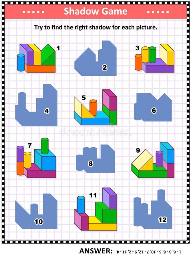 Skuggalek med byggnadskvarter vektor illustrationer