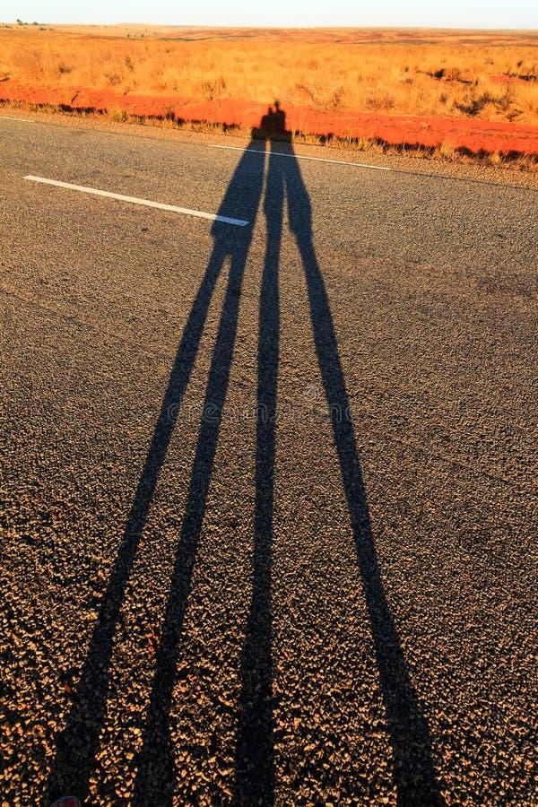Skuggar Long arkivfoton