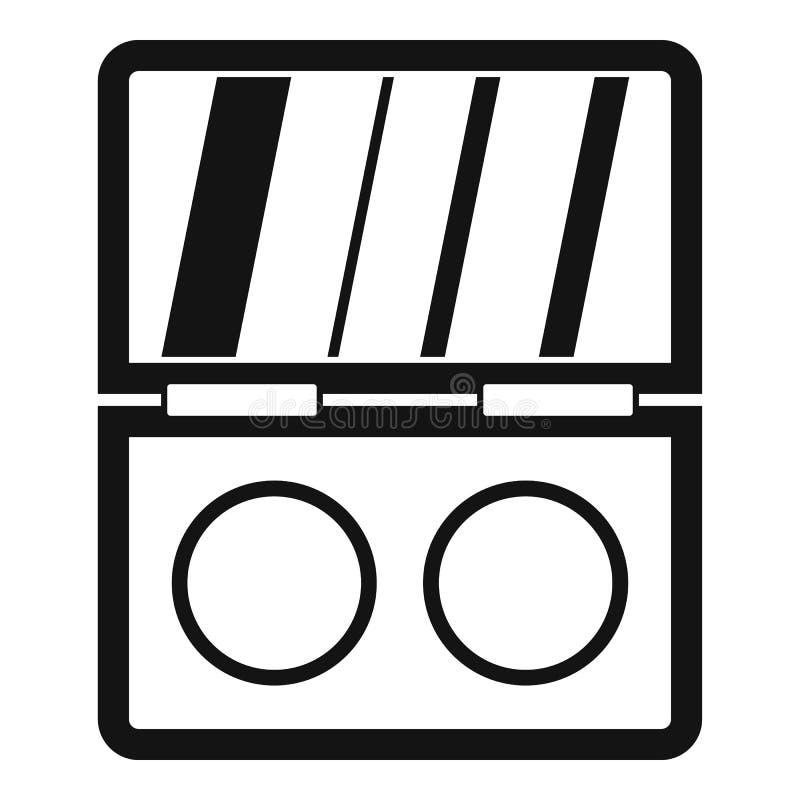 Skuggasatssymbol, enkel stil stock illustrationer