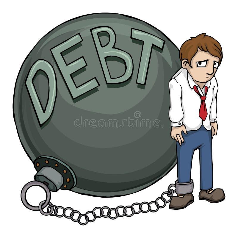 skuld stock illustrationer