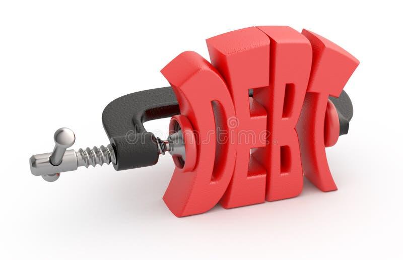 skuldförminskning stock illustrationer