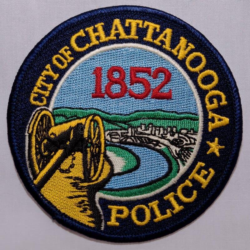 Skuldralappen av den Chattanooga polisen i Tennessee royaltyfria bilder