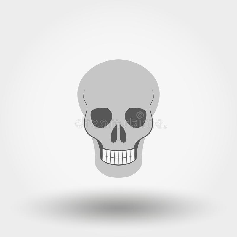 skull ícone Vetor liso ilustração stock