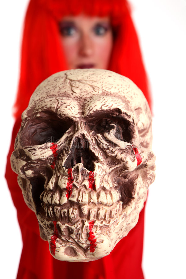 Download Skull stock image. Image of female, creepy, dead, fright - 1305587