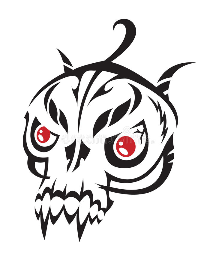Download Skull stock vector. Image of sign, mythology, angry, military - 14092231