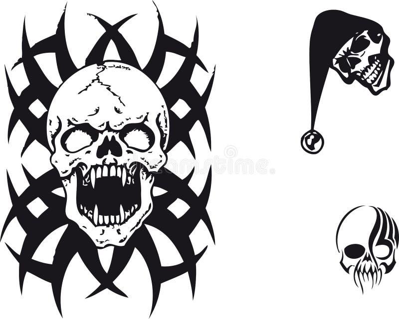 Download Skull stock illustration. Image of tribal, black, design - 4628962
