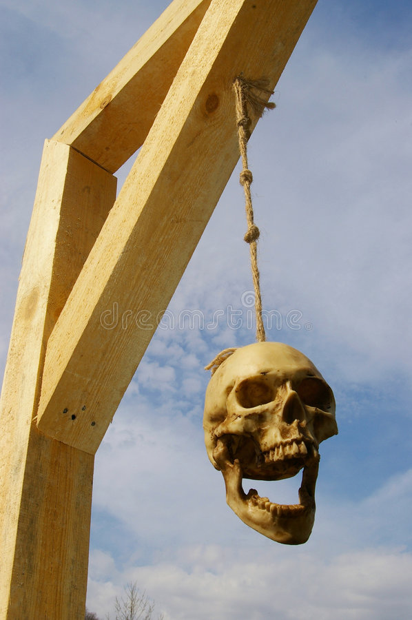 Download Skull stock photo. Image of execution, skull, death, gallows - 4748892