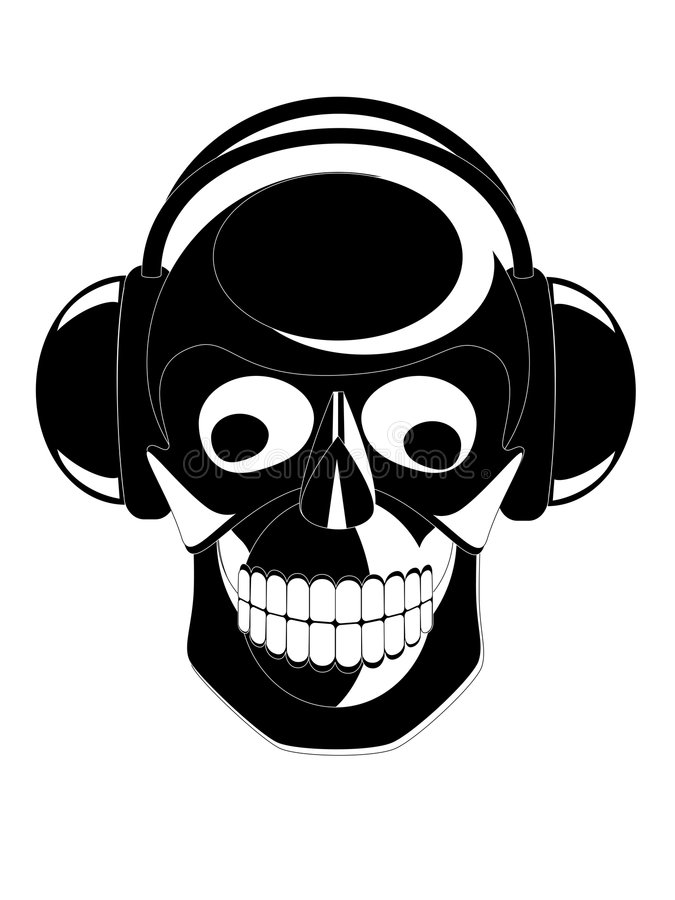 Download Skull stock vector. Image of electronics, hear, ancient - 4967641