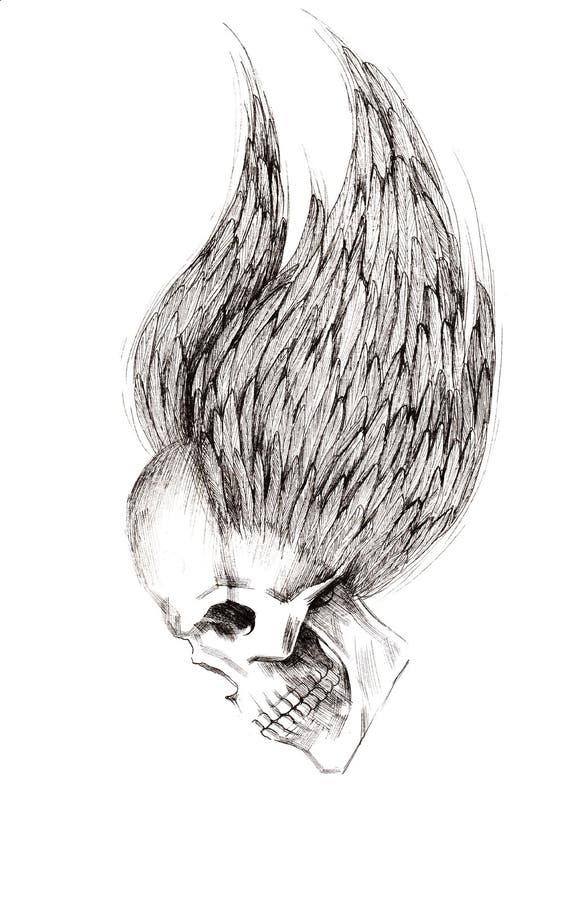 skull ilustração royalty free