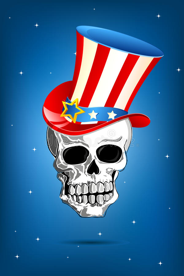 Download Skull with American Hat stock vector. Image of national - 23228210