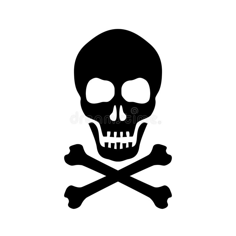 Free Skull And Crossed Bones Danger Sign Stock Image - 103549001