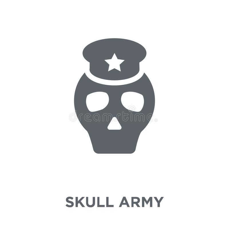 Skull Army icon from Army collection. stock illustration