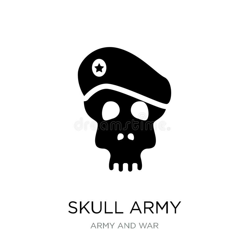 skull army icon in trendy design style. skull army icon isolated on white background. skull army vector icon simple and modern vector illustration