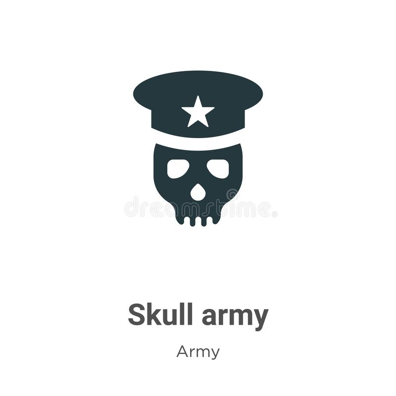 Skull army vector icon on white background. Flat vector skull army icon symbol sign from modern army collection for mobile concept royalty free illustration