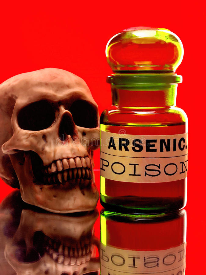 Free Skull & Arsenic Bottle Stock Photo - 41661020