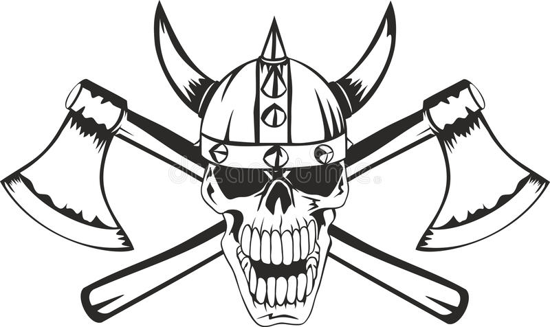 Download Skull and axes stock vector. Illustration of barbarian - 22066243