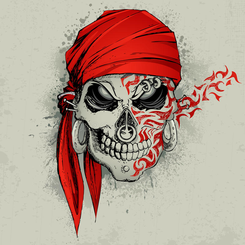 Skull Background vector illustration
