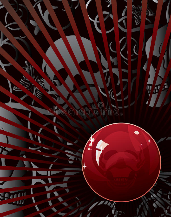 Download Skull background stock vector. Illustration of horror - 24483233